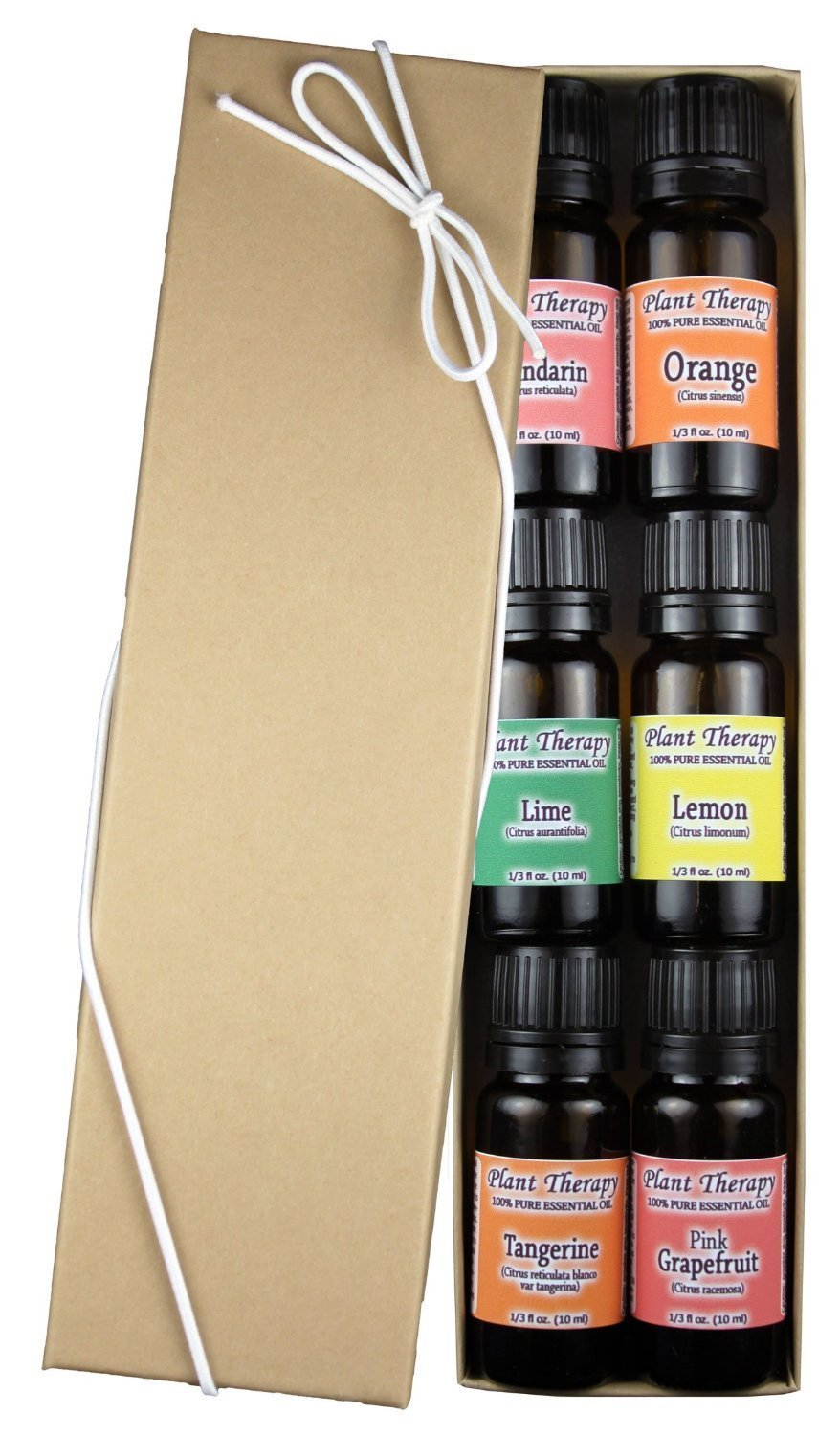 FRUITS- 6 Essential Oil Sampler Set. Includes 100% Pure, Undiluted, Therapeutic Grade Essential Oils of: Sweet Orange, Pink Grapefruit, Lime, Lemon, Tangerine & Mandarin. 10 ml each