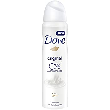Dove Deospray Original ohne Aluminium, 6er Pack (6 x 150 ml): Amazon ...