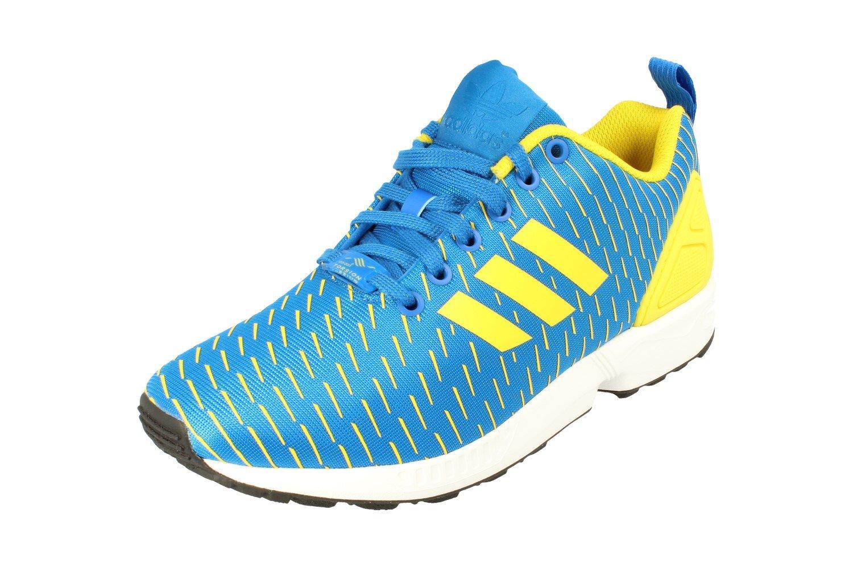 adidas Originals ZX Flux Mens Running Trainers Sneakers B075DDSCMX 7 D(M) US|Royal Blue Yellow Aq4531