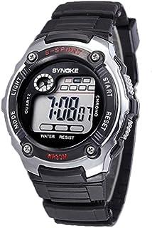 Reloj de estudiante - SYNOKE Multifunction Unisex Relojes digitales de deporte Plata