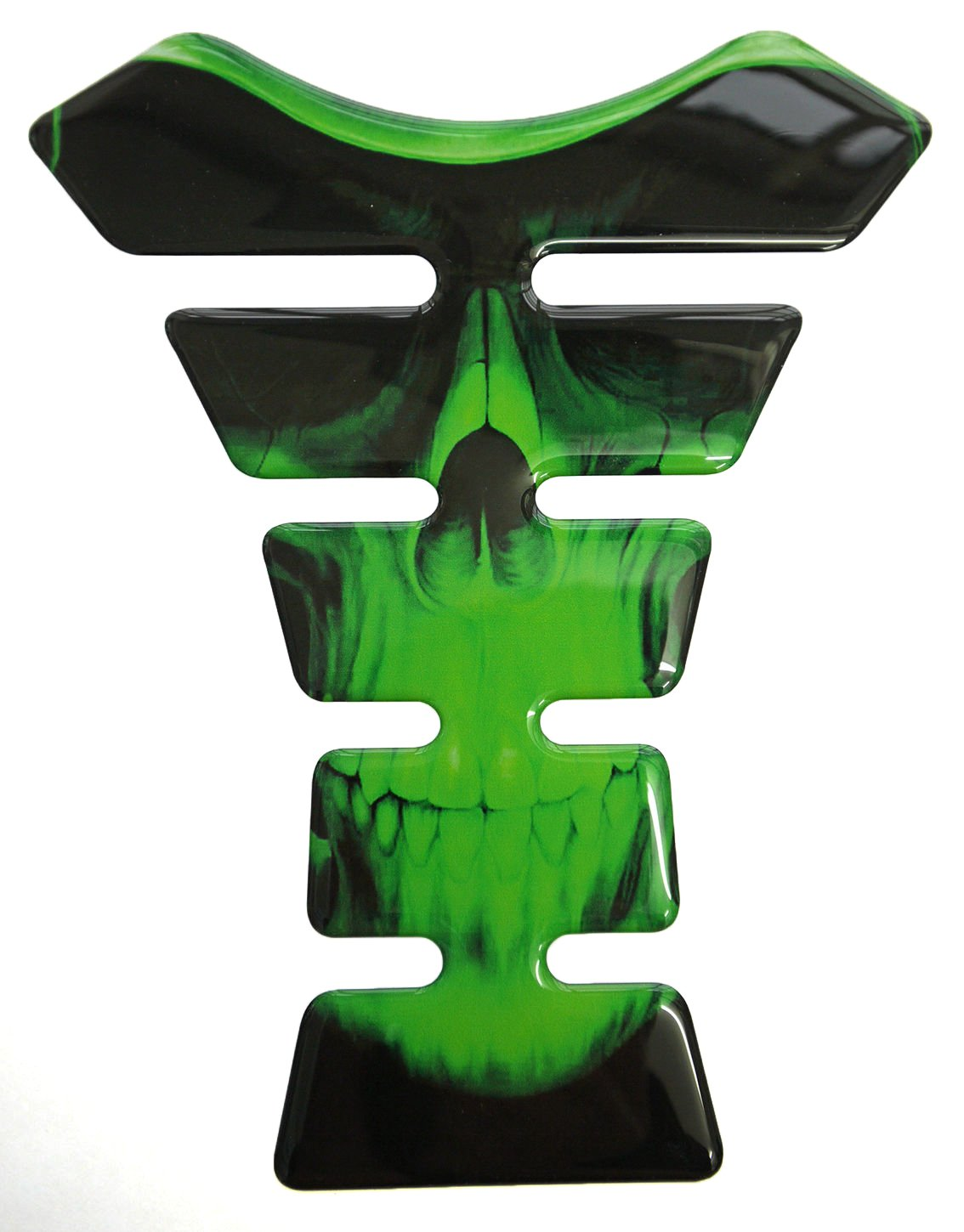 Grim Reaper Close Face 3D Resin Domed Gel Tank Pad K1 Lime Green