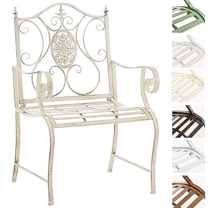 Lackierter Gartenstuhl Landhausstil Outdoor Im Clp Armlehne I Eisen Punjab Mit Antik Stuhl Creme Erhältlich n08wPkO
