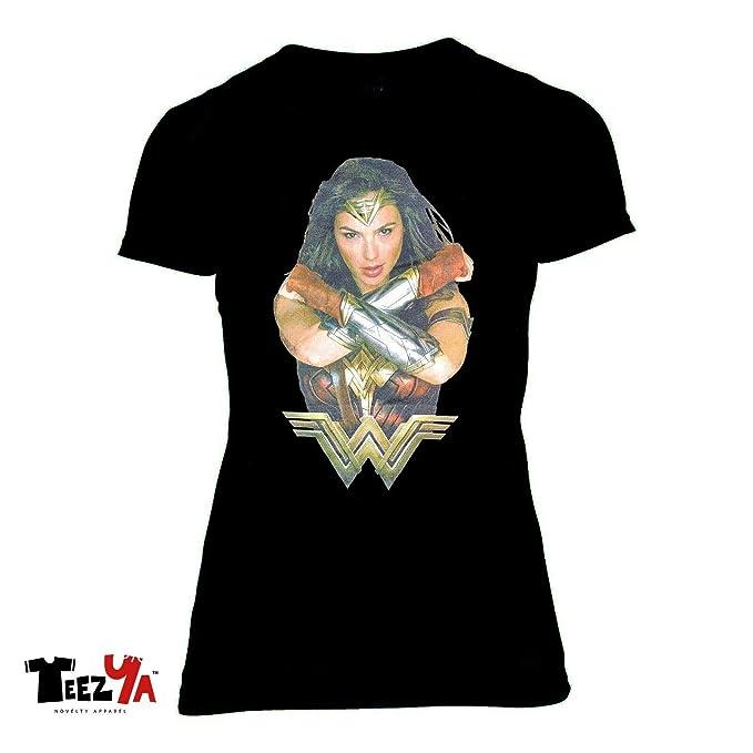 983365beb9fda Amazon.com: Wonder Woman Gal Gadot Women T-Shirt Justice League DC ...