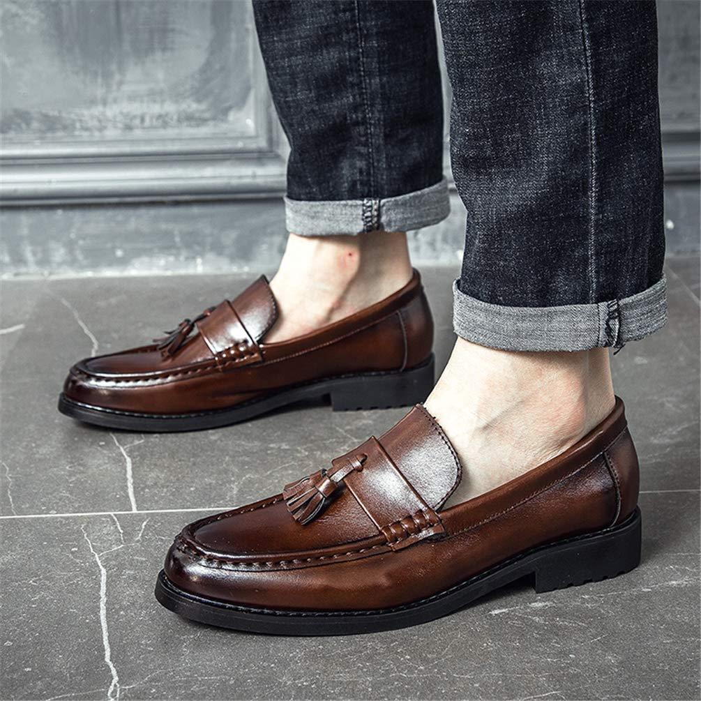 Qianliuk Tassel Schuhe M/änner Dress Loafers italienische Hochzeitsschuhe