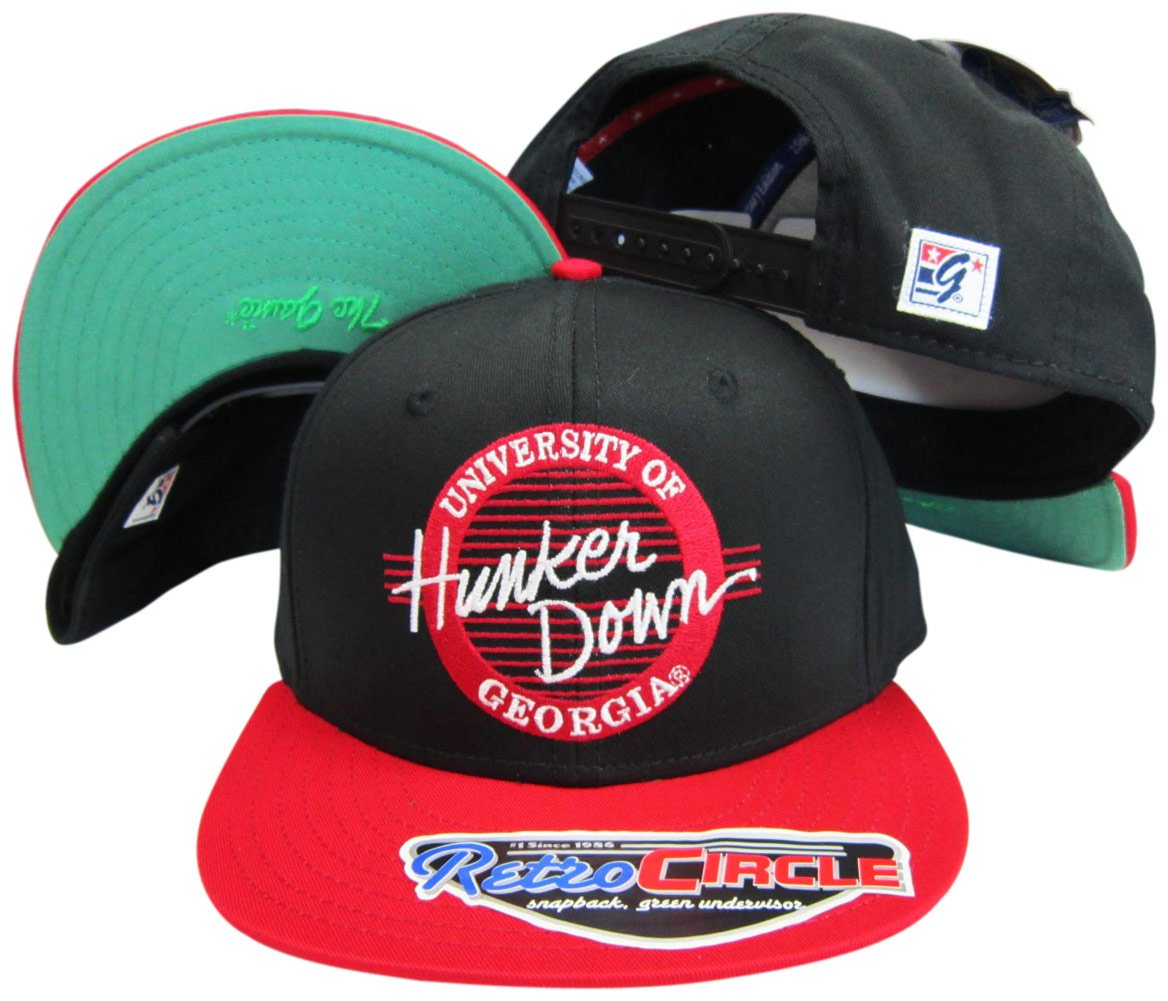Georgia Bulldogs Hunker Down円スナップバック調節可能なスナップバック帽子/キャップ   B005ZX6G6O
