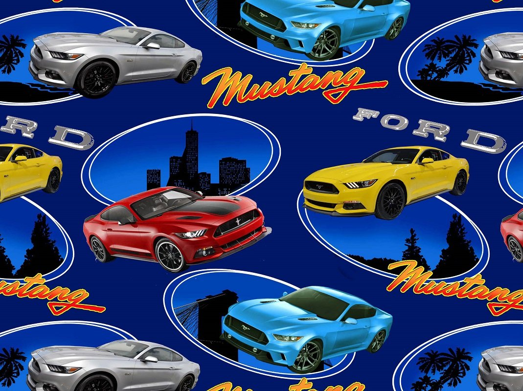Amazon com ford mustang cotton fabric ford quilting cotton fabric 10106