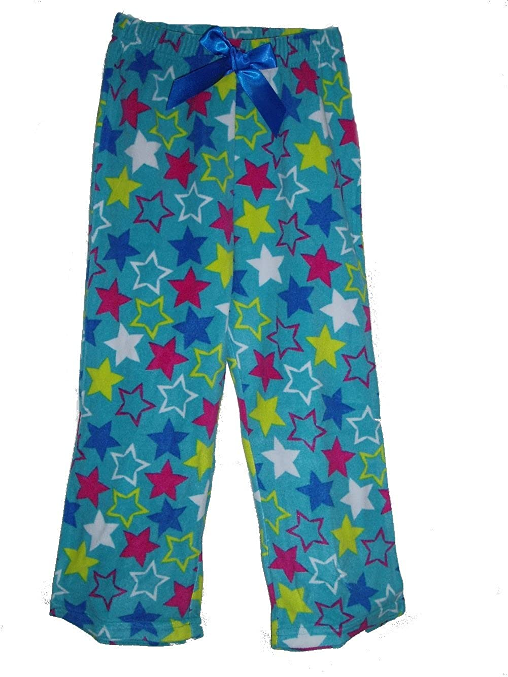 Jellifish Girls Blue with Stars Fleece Sleep Pajama Pant Jelli Fish