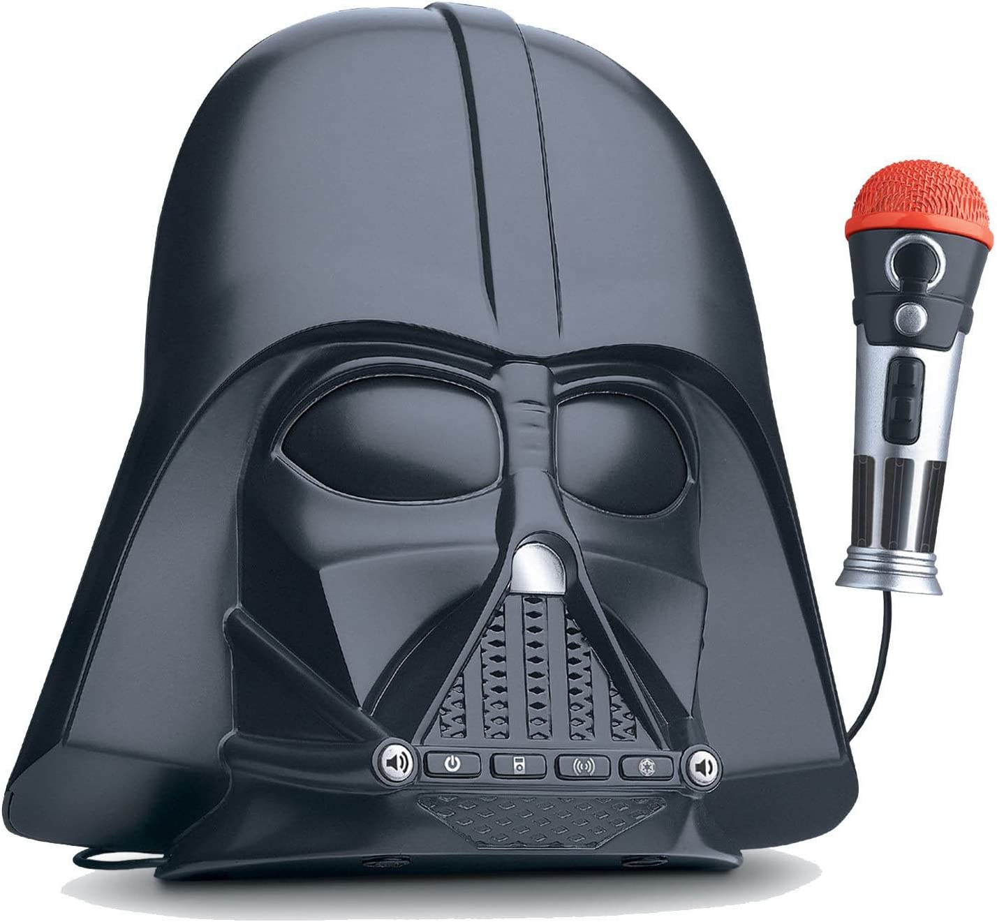 eKids Star Wars Darth Vader Voice Changing Boombox Connects to MP3 Player Darth Vader Phrases Sound Effects from The Star Wars Saga and More