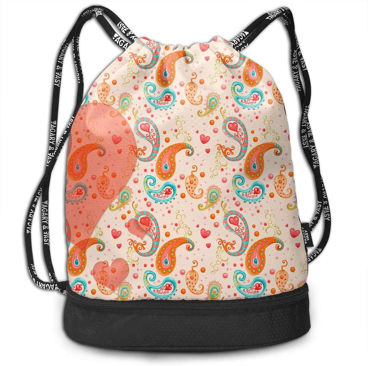 Love Cinch Backpack Sackpack Tote Sack Zol1Q Lightweight Waterproof Large Storage Drawstring Bag for Men /& Women