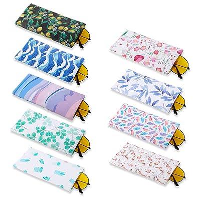 FANTESI Paquete de 9 Bolsas para Gafas, Gafas de Sol portátiles Bolsa para Gafas Gafas Fundas