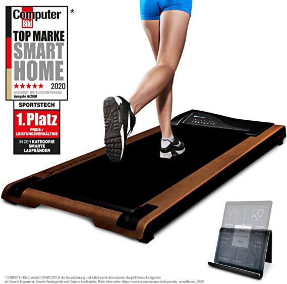 Sportstech DESKFIT DFT200 Office Desk Treadmill, Fit & healthy at the office and at home, Move and work at the same time, no more back pain, With practical tablet holder, remote control and app