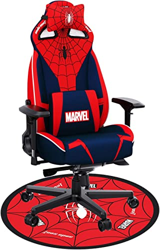Ergonomic Gaming Chair,ANDASEAT Spider Man Swivel PVC Leather Computer Office Chair,4D Adjustable PU Armrest XL Video Game Chairs,160 Gaming Recliner Rocker