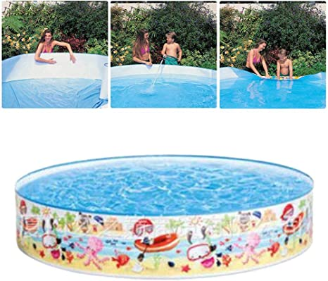 N X Family Swimming Pool For Adults Kids 152x25cm Non Inflatable Swimming Pool Snap Set Swimming Pool Kids Paddling Pool For Summer Water Fun Home Kitchen