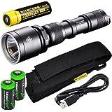 EdisonBright Nitecore MH25 CREE XM-L U2 LED 960 Lumen USB Rechargeable Flashlight, 18650 rechargeable Li-ion protected…
