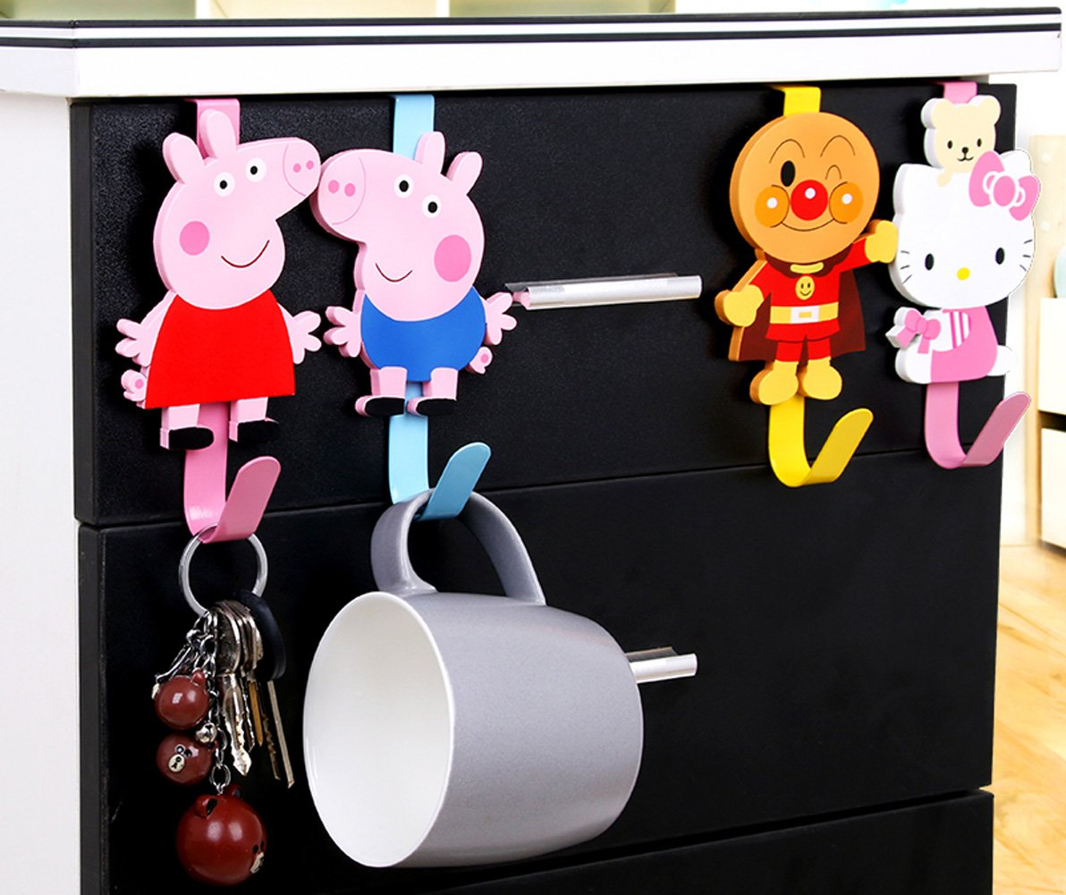 Amazon.com: yournelo Cute Cartoon puerta de forja de madera ...