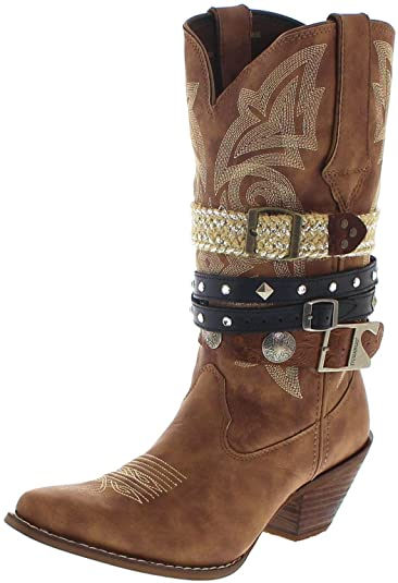 newest collection 0c9f4 b6544 Durango Boots DRD0122 ACCESSORIZE Tan Damen Cowboystiefel ...