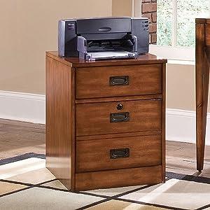 Hooker Furniture Danforth Mobile File in Rich Medium Brown