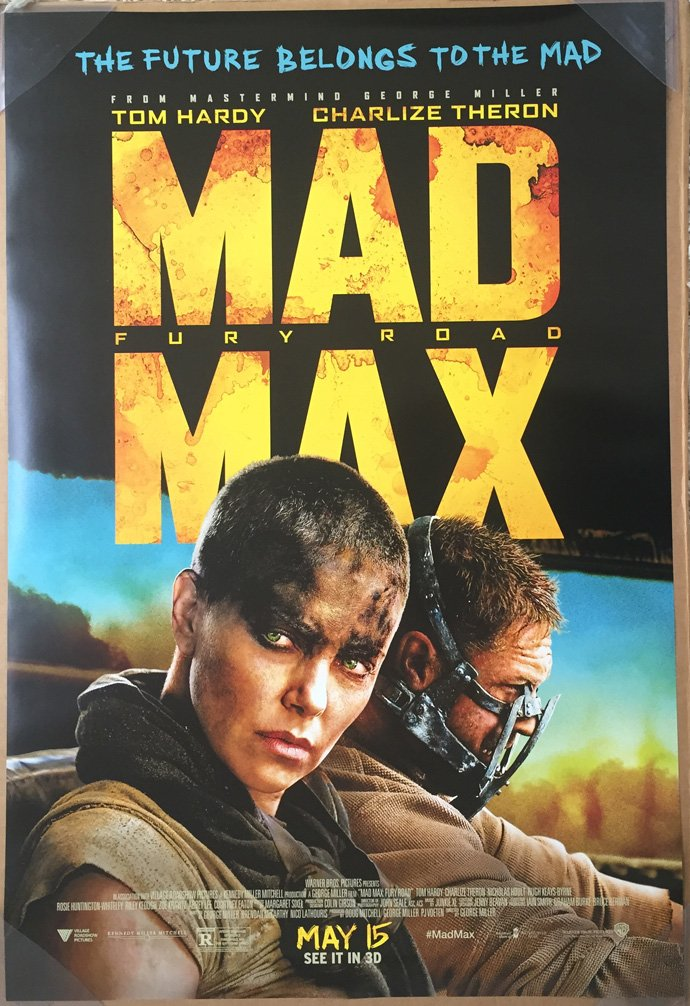 MAD MAX FURY ROAD MOVIE POSTER 2 Sided ORIGINAL FINAL 27x40 TOM HARDY, CHARLIZE THERON