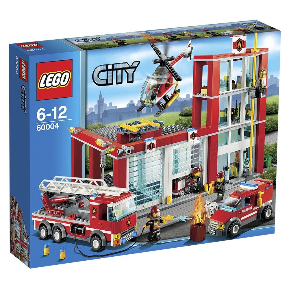lego city 60004 fire station amazoncouk toys games - Lego City Pompier