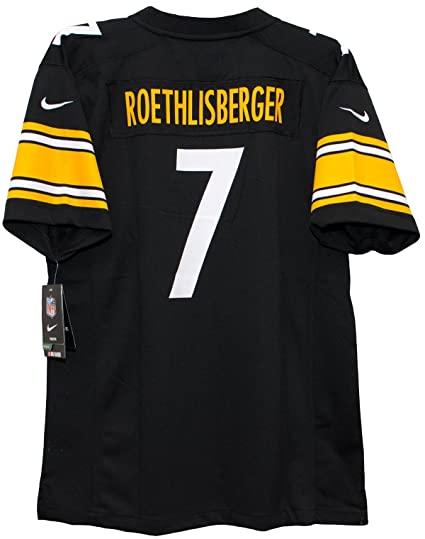 5909776e4 Amazon.com   OuterStuff Ben Roethlisberger Pittsburgh Steelers Youth Team  Color Game Jersey - Black (Youth X-Large)   Sports   Outdoors
