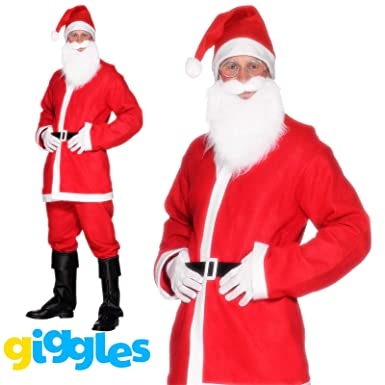 BRAND NEW PAPY, Santa Claus Costume Suit Adult Father Christmas Fancy Dress  Mens Xmas Outfit - Amazon.com: BRAND NEW PAPY, Santa Claus Costume Suit Adult Father