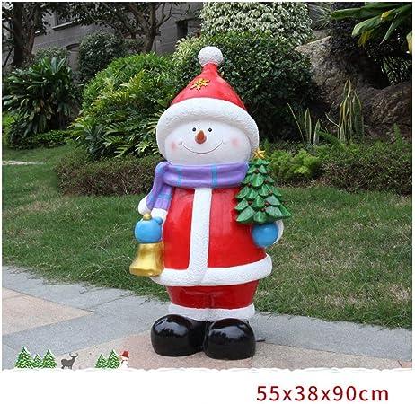 ZYL-IL Escultura del muñeco de Nieve, Navidad Adornos de jardín, Manualidades, 55 × 38 × 90 cm: Amazon.es: Hogar