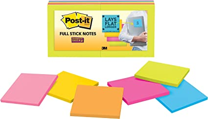 Total 405 Sheets 3M Post-it Notes Super Sticky 45 Each 3IN X 3IN Pack of 3