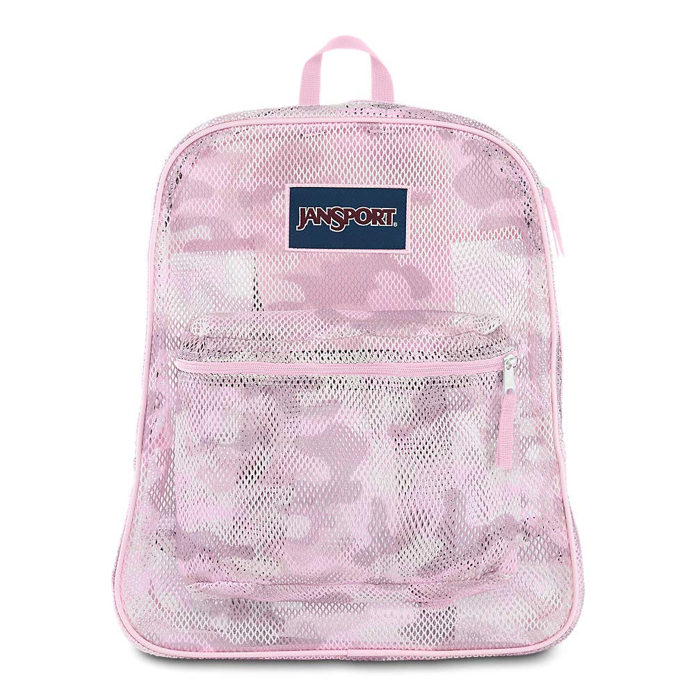 JanSport Mesh Pack - See Through Backpack   Cotton Candy Camo Print