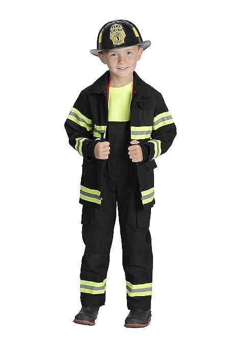 Amazon.com: Jr. Traje de bombero con casco, S, Negro: Toys ...