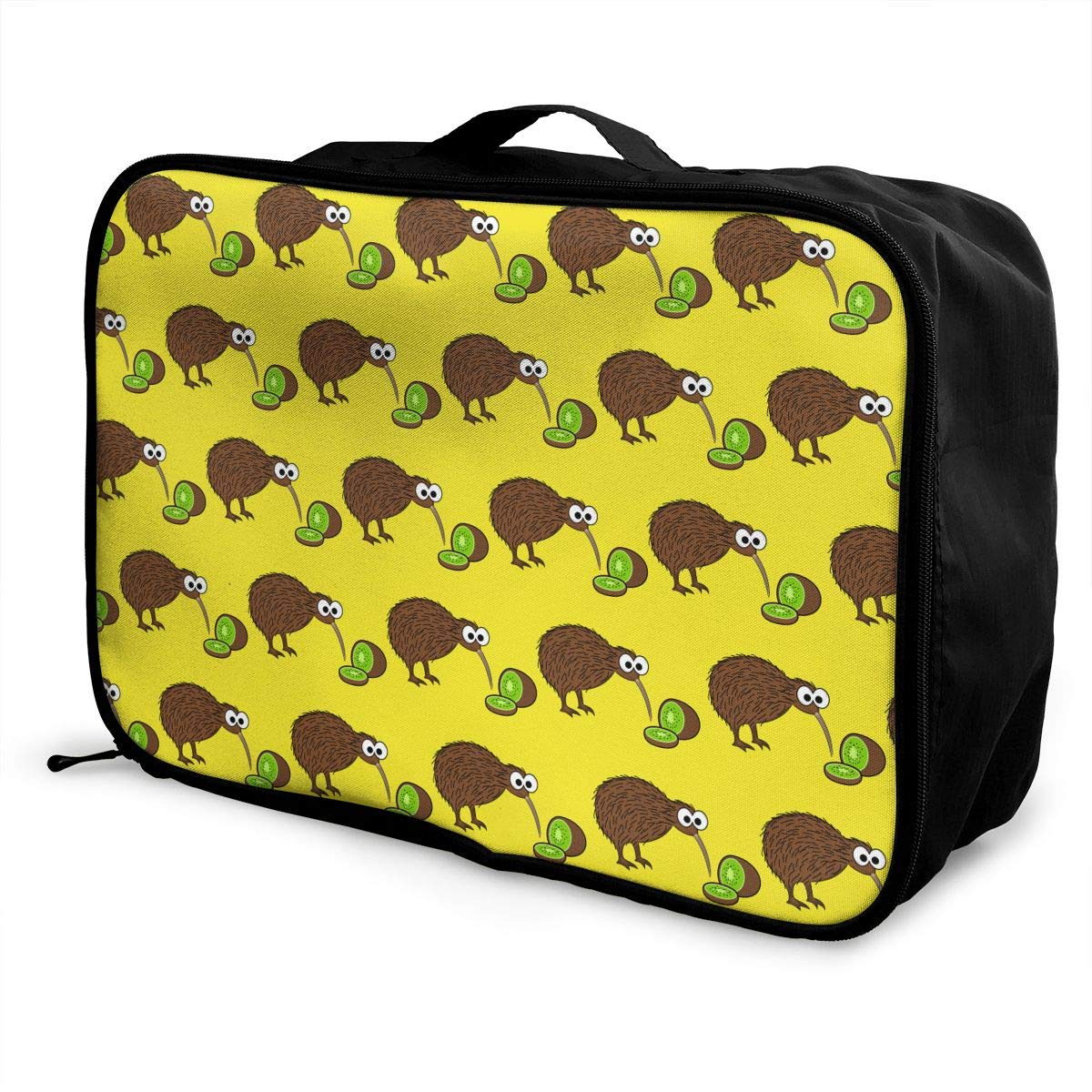 YueLJB Brown Kiwi Kiwi Fruits Lightweight Large Capacity Portable Luggage Bag Travel Duffel Bag Storage Carry Luggage Duffle Tote Bag