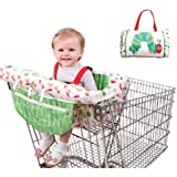 B Includes Carry Bag Compact Universal Fit Restaurant High Chair 2-in-1 Highchair Cover Modern Unisex Design for Boy or Girl Machine Washable Shopping Trolley Cart Cover for Baby or Toddler