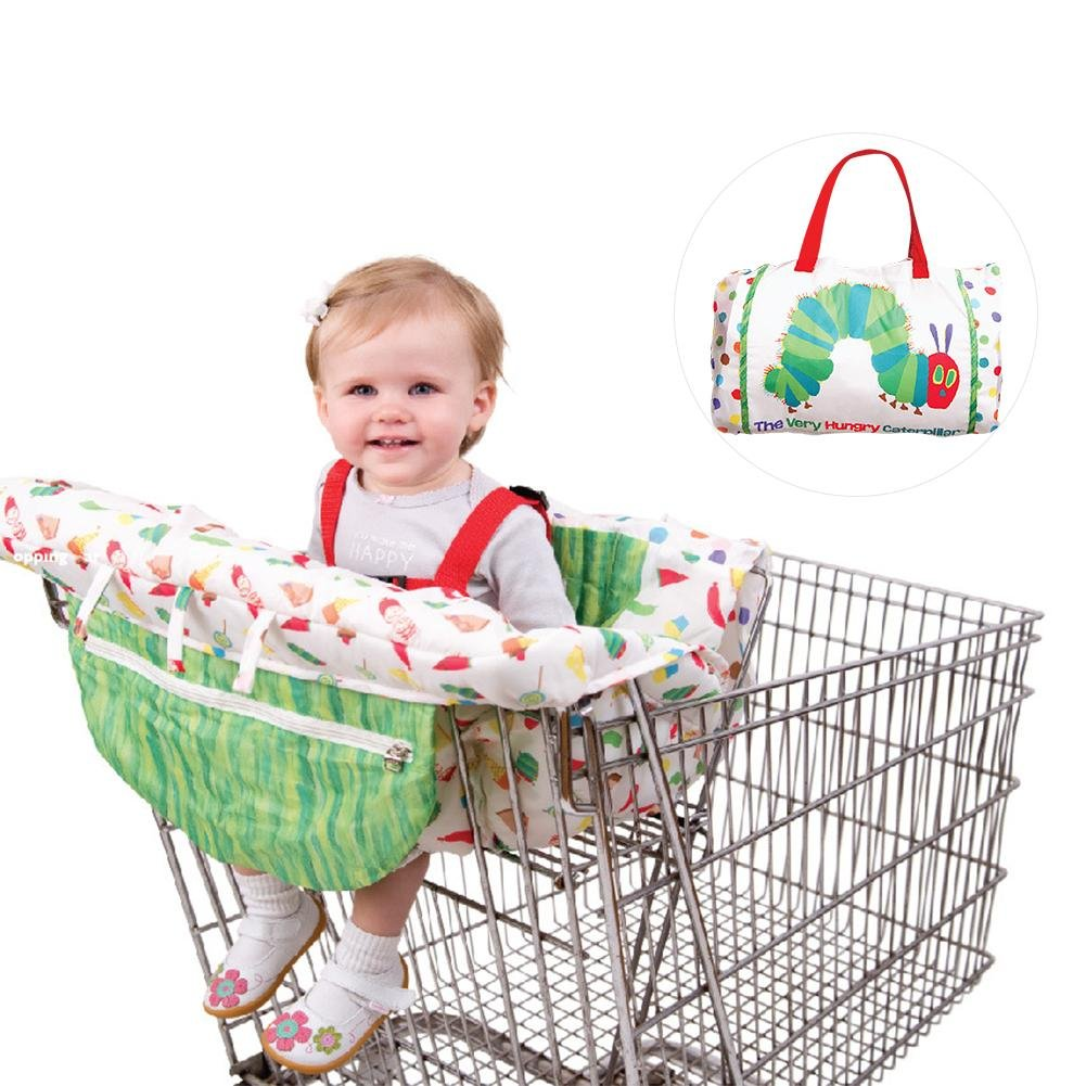big-time 2-in-1 Shopping Cart Cover, Children's Cushion Trolley Game Pad Dining Chair Cushion Case Antibacterial Safe Portable Pad for Baby