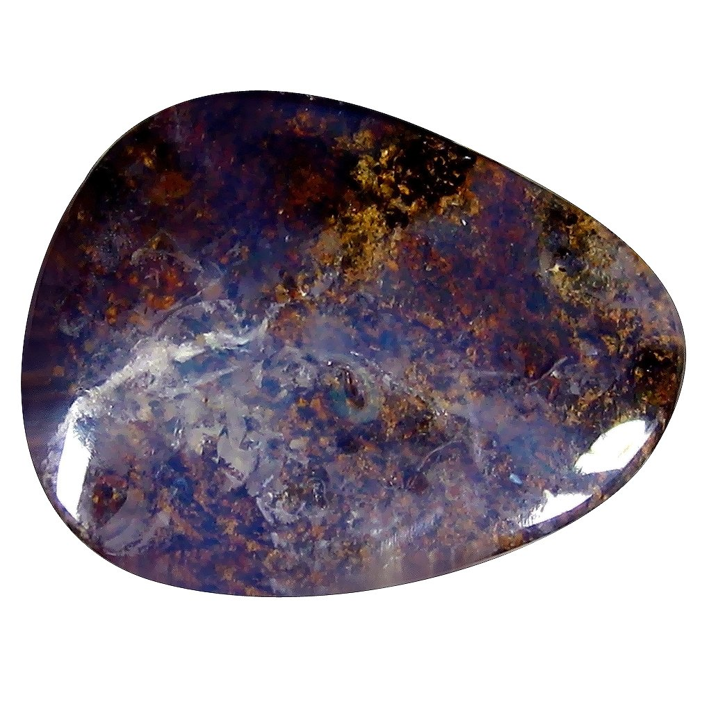 ボルダーオパール ルーズジェームズ 9.88 ct Fancy Shape (18 x 14 mm) Play of Colors Australian Koroit Boulder Opal Natural Gemstone   B07C9YR4NC