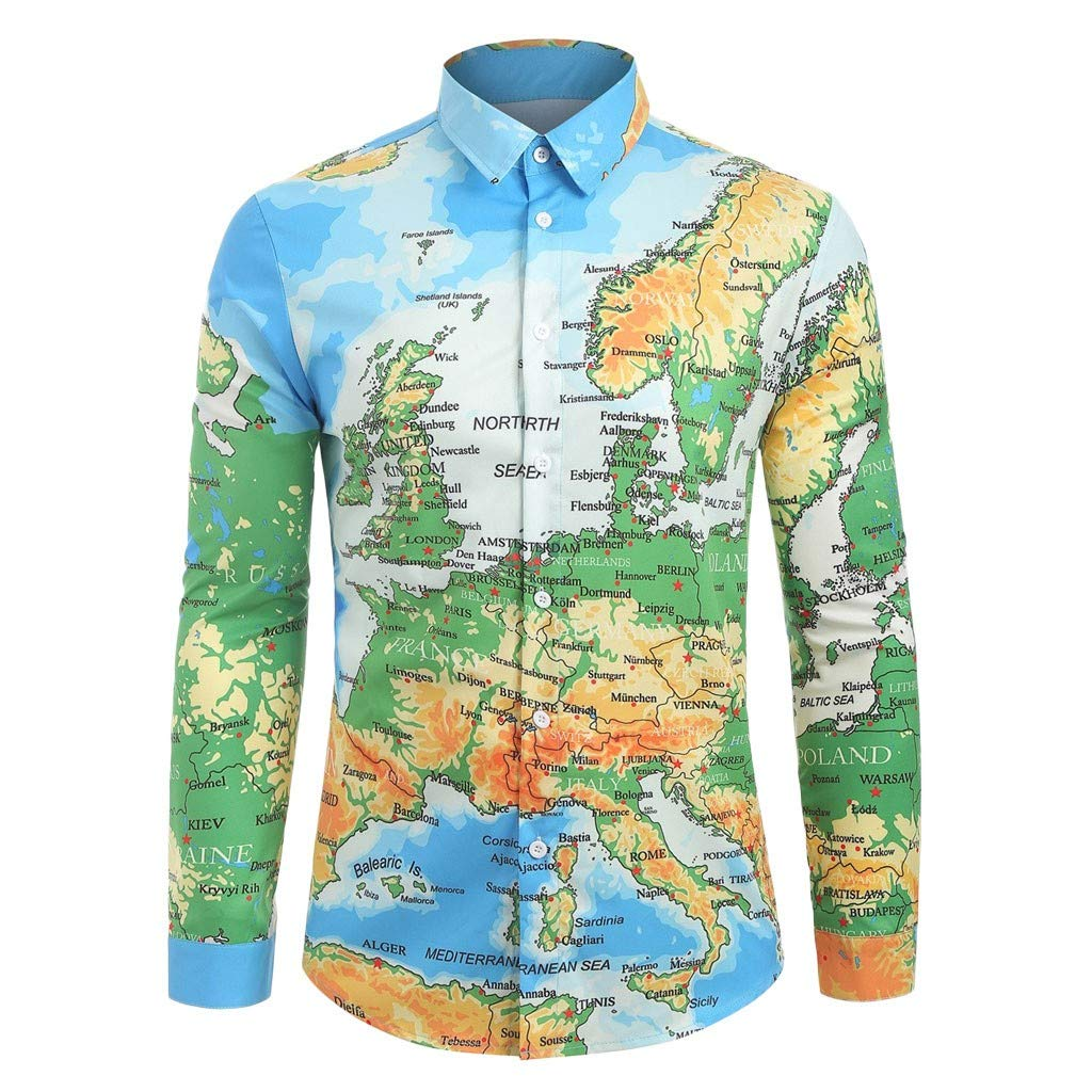 iHPH7 Mens Button Down Long Sleeve Shirt #19060938