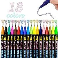 MEISHANG Outline pen, Outline Marker pennen, Outline Pennen, Magic Pennen, Double Line Outline Pennen, Glitter, Double…