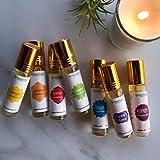 Aromafume 7 Chakra Essential Oil Blends Roll On Set (Ajna, Vishuddha, Anahata, Manipura, Muladhara, Sahasrara…