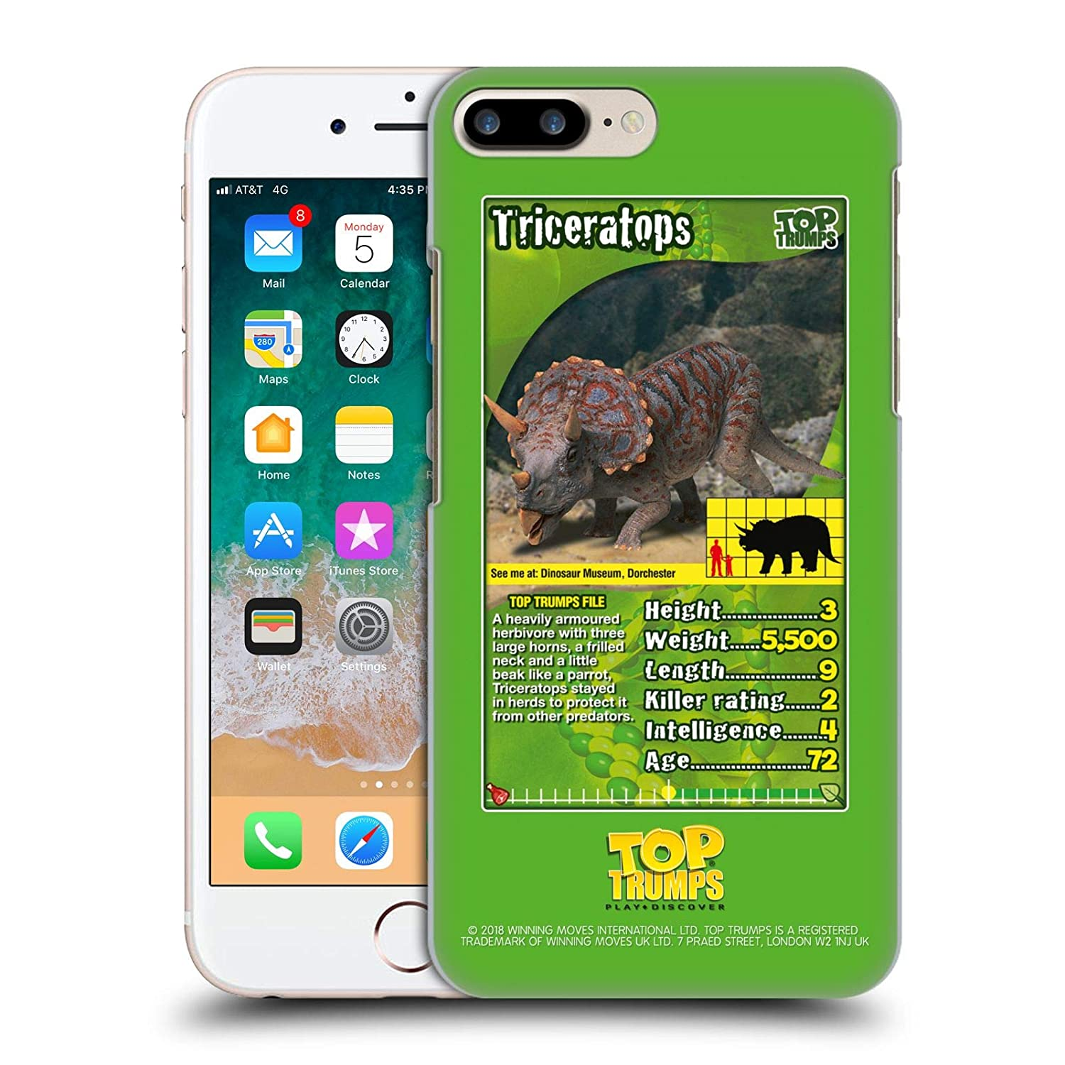 Amazon com: Official Top Trumps Triceratops Dinosaurs Hard