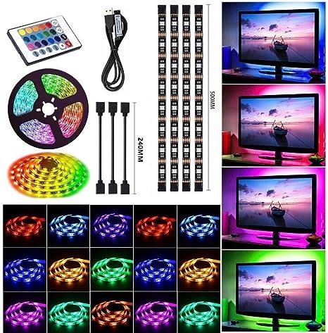 LED Streifen TV Hintergrundbeleuchtung RGB SMD 5050 Strip Band Kit Beleuchtung