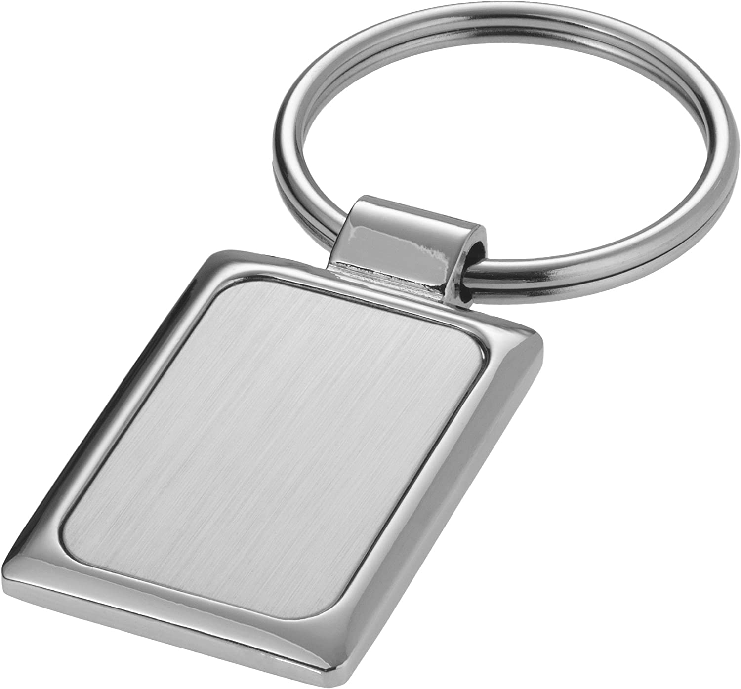 1.7 x 1 x 0.2 inches Silver Bullet Sergio Rectangular Key Chain