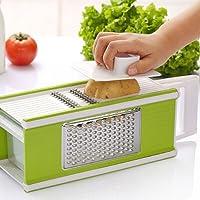 Cheese Grater Mandoline Vegetable Slicer with Box Storage 4 in 1 Kitchen Tool