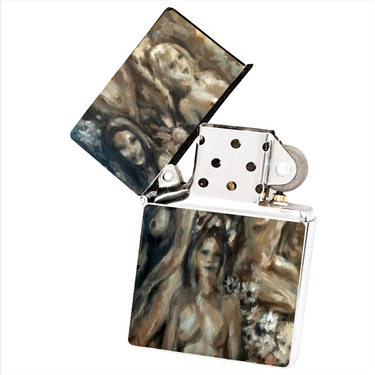 Natural Beauties Painting by Jennifer Payne White Flip Top Cigarette Lighter