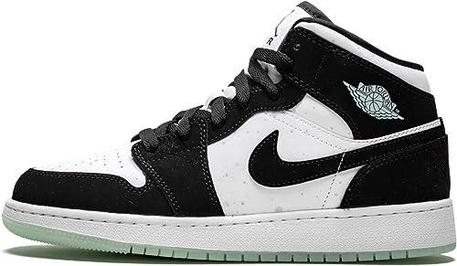 Posdata industria código postal  Amazon.com: Jordan Air 1 Mid Se Gs (Blanco/Negro-Verde Azulado Tinte 5Y):  Shoes