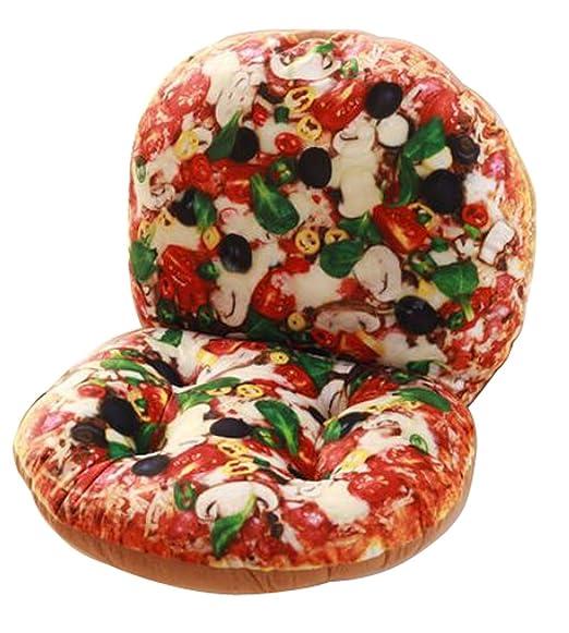 40 x 80 cm 3d Creative Pizza estilo espalda cojín suave ...