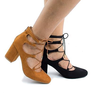 e70fba90b871 Marcus02 WhiskySued Ghillie Lace Up Leg Wrap Block Heeled Sandal -6