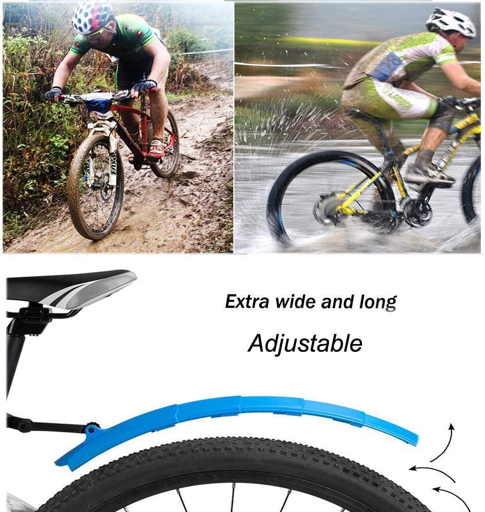 TOPCABIN Bike Fenders Mudguard for Road Mountain Bicycle Front+Rear 2PCS Adjustable Bicycle Mudguard Set
