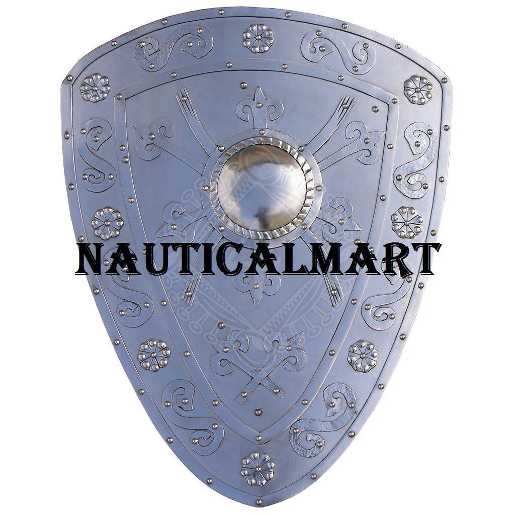 NAUTICALMART中世Armor BattleスチールShield B07D8SJ5NR