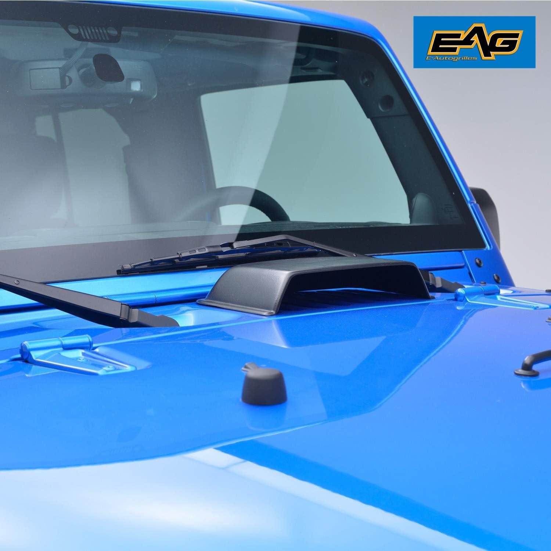 EAG E-Autogrilles Black Heater Air Vent Hood Scoop for 07-18 Jeep Wrangler JK