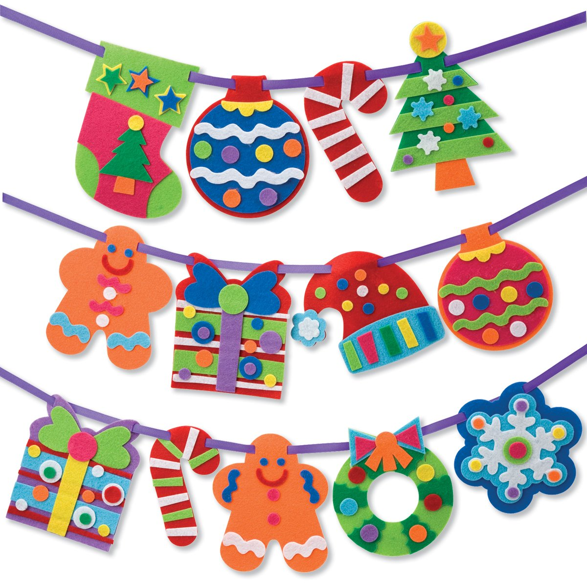 Gingerbread man christmas wreath candy cane gifts stockings