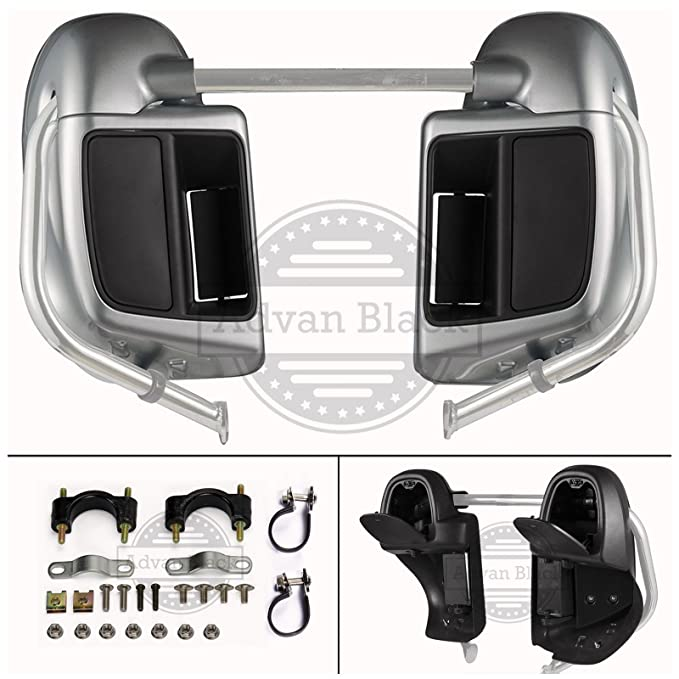 Amazon.com: Brilliant Silver Rushmore Lower Vented Fairings Kit Glove Box for Harley Davidson Touring Street Glide Road King 2014 2015 2016 2017 2018: ...