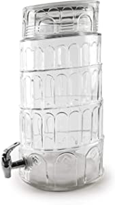 Circleware 69126 Sun Tea Jar Beverage Dispenser and Glass Lid, Party Entertainment Home & Kitchen Glassware Water Pitcher for Juice, Beer, Kombucha & Cold Drinks, 2.1 Gallon
